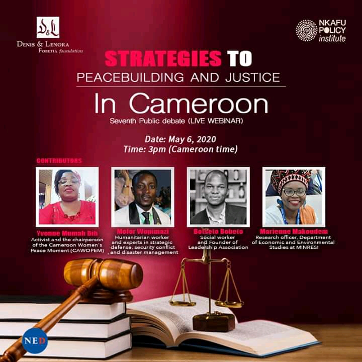 Moderators during the seventh NED Debate (Webinar) on strategies to peacebuilding and justice in Cameroon