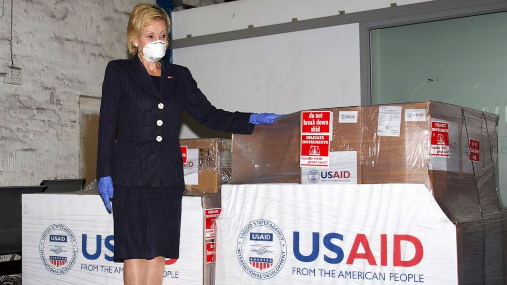 U.S. Ambassador to South Africa Lana Marks said the U.S. Government is donating up to 1000 much needed ventilators and accompanying equipment to South Africa to assist with its national response to COVID-19.Photo USAID