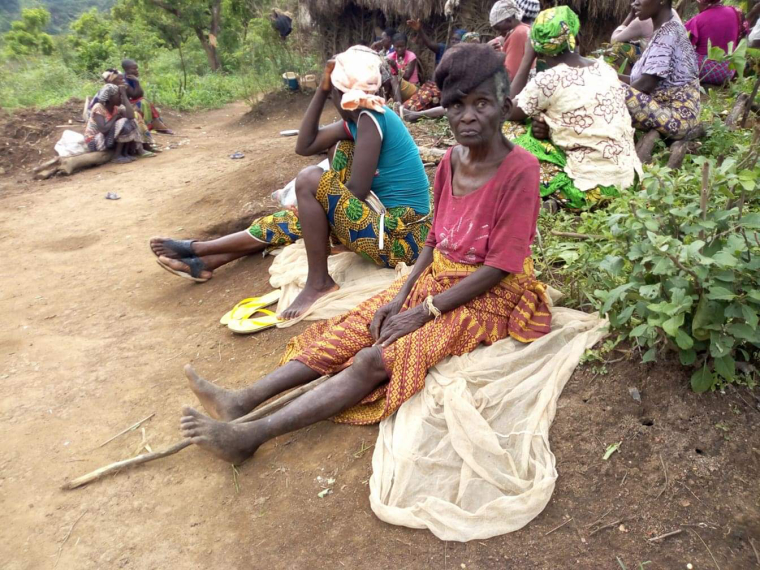 Villagers hide out in the forest after a military attack on their community in the Mfumte area of Cameroon on April 7, 2019. Thousands have been displaced by the violence in Cameroon's Anglophone regions over the past few years. Many have fled to neighboring Nigeria. Photo credit Efi Tembon,Christian Post