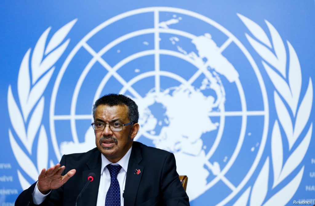 WHO Director-General, Dr Tedros Adhanom Ghebreyesus.Photo credit REUTERS/Denis Balibouse