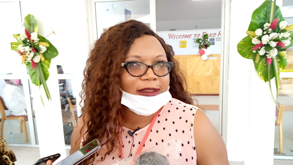 Mrs Irene Naloua Kemah, Owner and CEO of Fako Hear Centre, located in Buea, South West Region of Cameroon