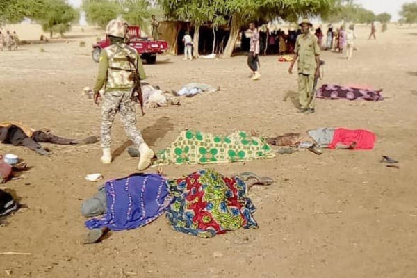 Trails of destruction and ruin left behind by Boko Haram/Iswap in Borno State, June 10, 2020.Pic Credit Elombah News