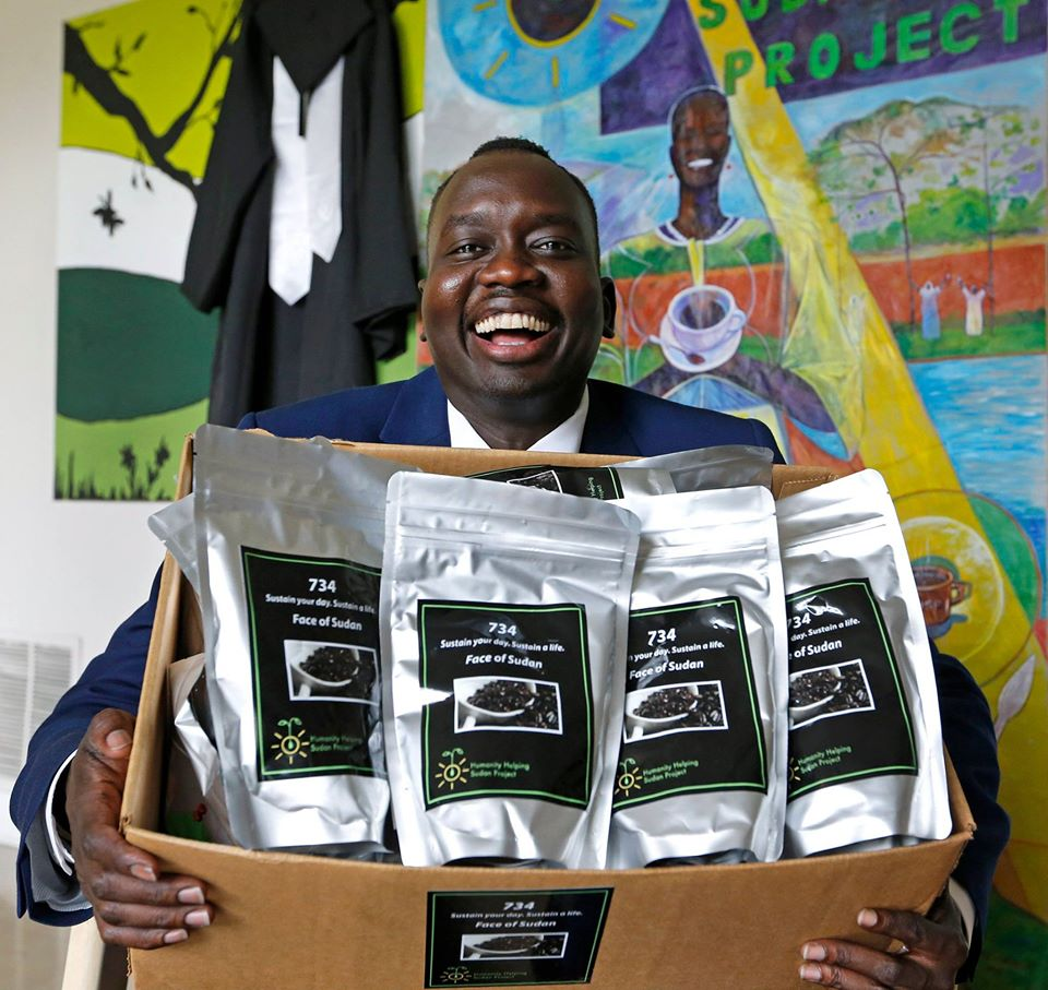 With 734 coffee, the creative genius of Manyang Reath Kher is not just bringing dignity and hope to refugees but also contributing to the economic growth his host country and region of origin