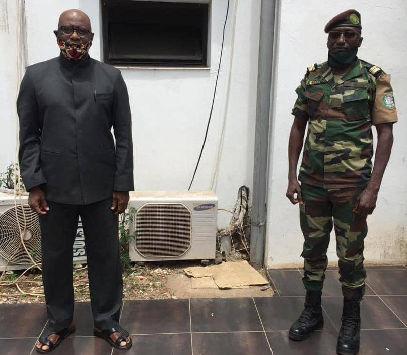 . Colonel Tamba was at the Ministry to pay a courtesy call on the Honourable Minister and to brief him on the routine activities of the ECOMIG Mission.