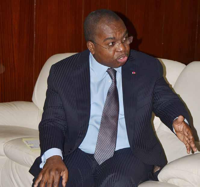 Cameroon's Minister of Finance Louis Paul Motaze