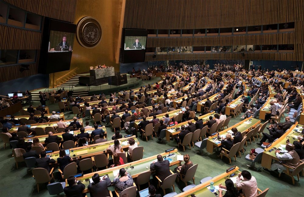 UN council in session (photo credits: Don Emmert/AFP via Getty Images)