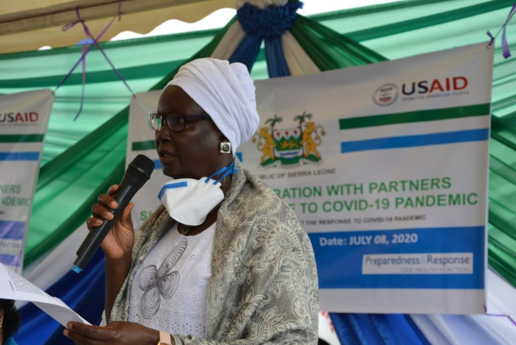"According to FAO Country Representative, Nyabenyi Tipo, the donation is a gesture to show the organization's commitment to helping Sierra Leone in the fight against COVID-19; she said, ""we know these are difficult times, we should, therefore, stick together and support one another."""