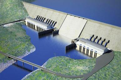 Artist drawing of the Grand Ethiopian Renaissance Dam