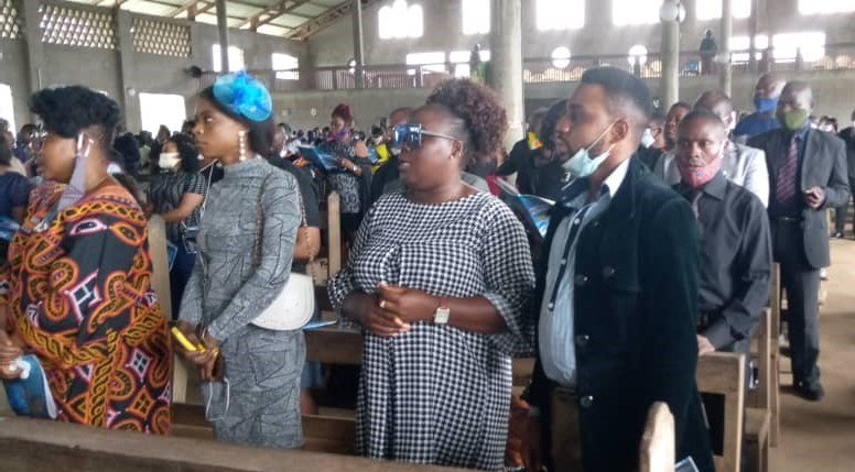 Journalists from across paid their last respect to Chief Nkemayang Paul