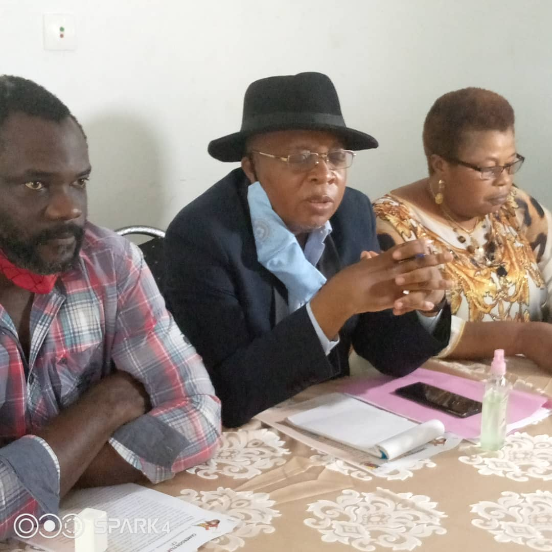 Officials of the Cameroon Film Industry decrying the law on Culture and Artistic Association in Cameroon