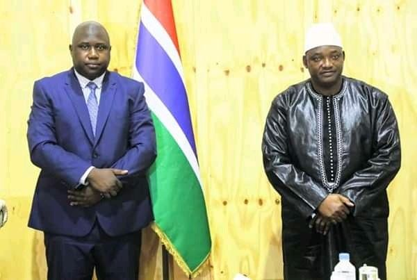 President Barrow and New Justice Minister Dawda Jallow