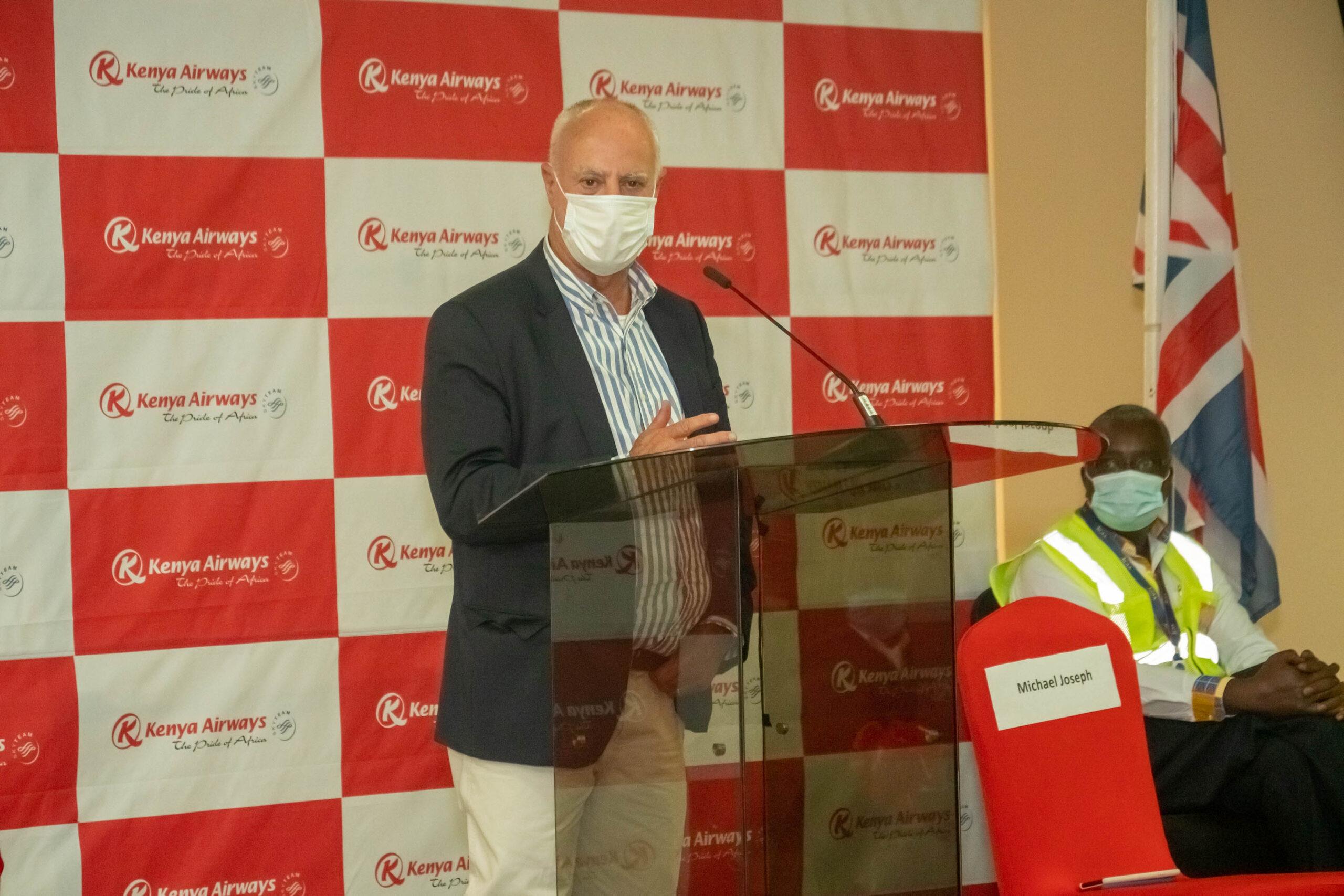 Kenya Airways Chairman of the Board Michael Joseph