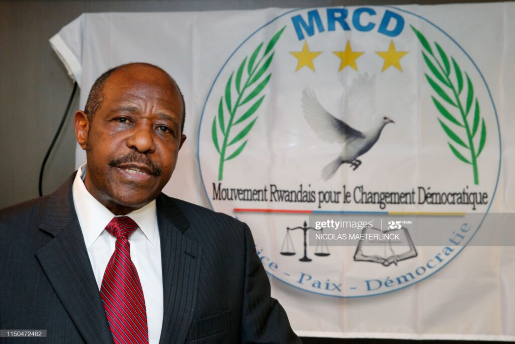Rwandan Movement for Democratic Change (MRCD) MRCD-UBUMWE chairman Paul Rusesabagina speaks during a press conference of the political platform MRCD-UBUMWE and the political party RDI-EWANDA RWIZA, concerning the political and security situation in Rwanda, in Brussels, on June 18, 2019. (Photo by NICOLAS MAETERLINCK / various sources / AFP) / Belgium OUT        (Photo credit should read NICOLAS MAETERLINCK/AFP via Getty Images)
