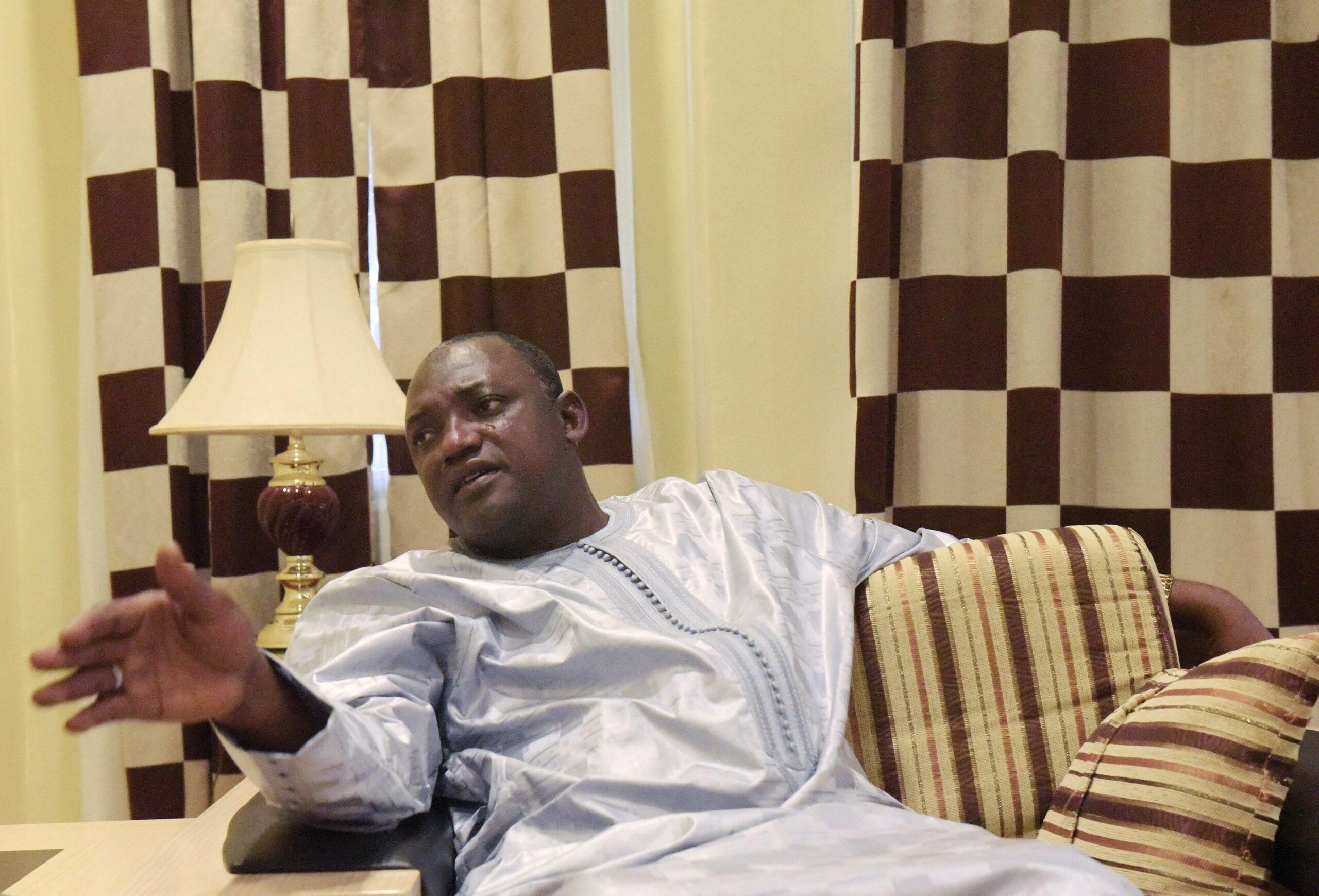 Gambian President Adama Barrow