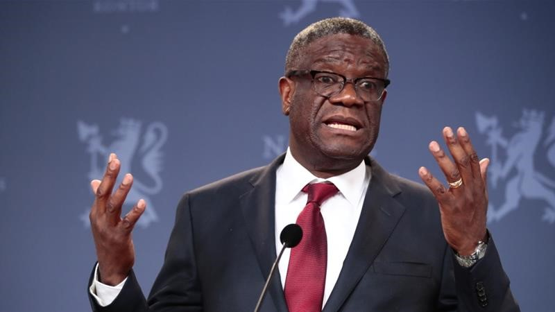 Denis Mukwege received the Nobel Peace Prize 2018 for his efforts to end the use of sexual violence as a weapon of war [File: Lise Aserud/EPA]