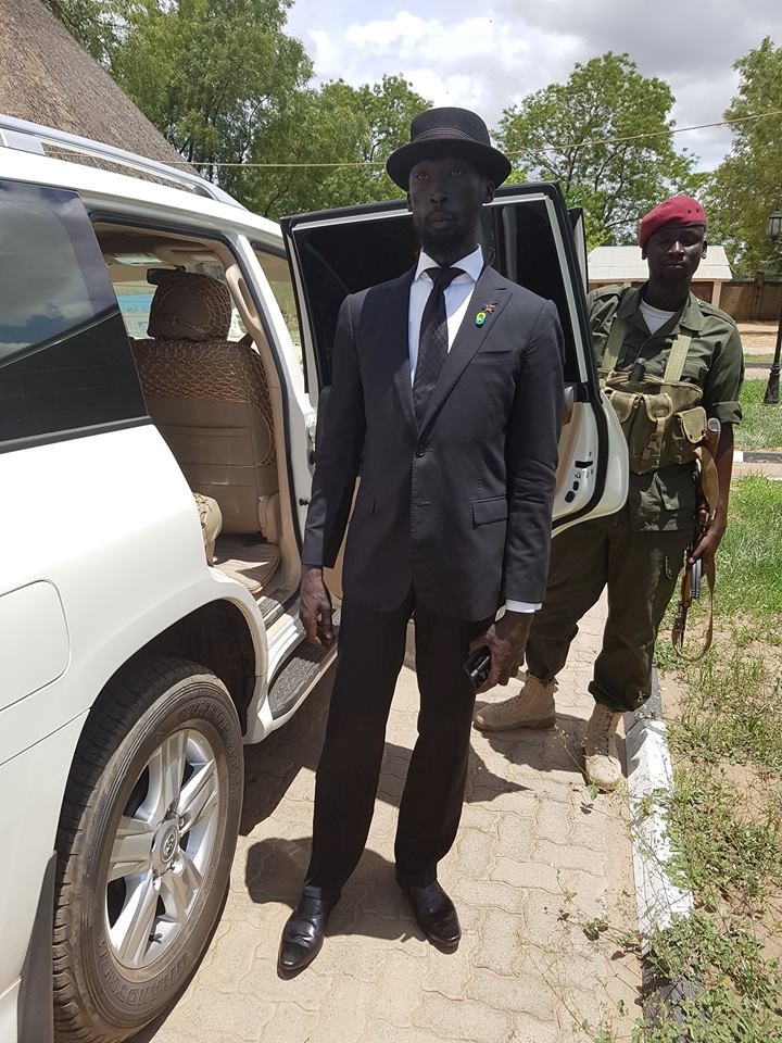 Mabior Garang de Mabior attending a Ministerial meeting in 2016 (photo: twitter - Daily Monitor)