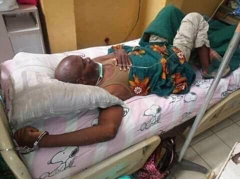 Shocking images of Thomas Nganyu Tangem chained on his hospital bed were in circulation a few days to before he died