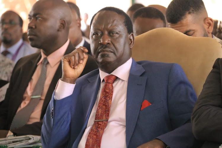 Kenya's chief opposition leader Raila Odinga