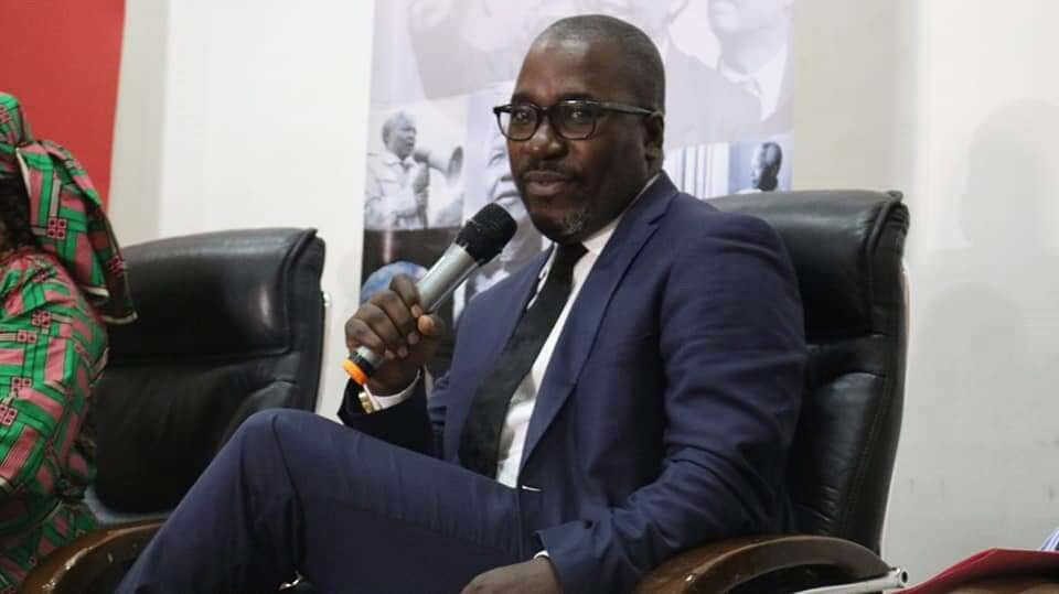 Felix Agbor Balla-Human rights defender addressing participants during the International Nelson Mandela Day in Yaounde