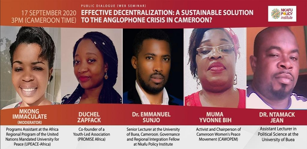Participants on Effective decentralisation - A sustainable solution to the Anglophone crisis in Cameroon