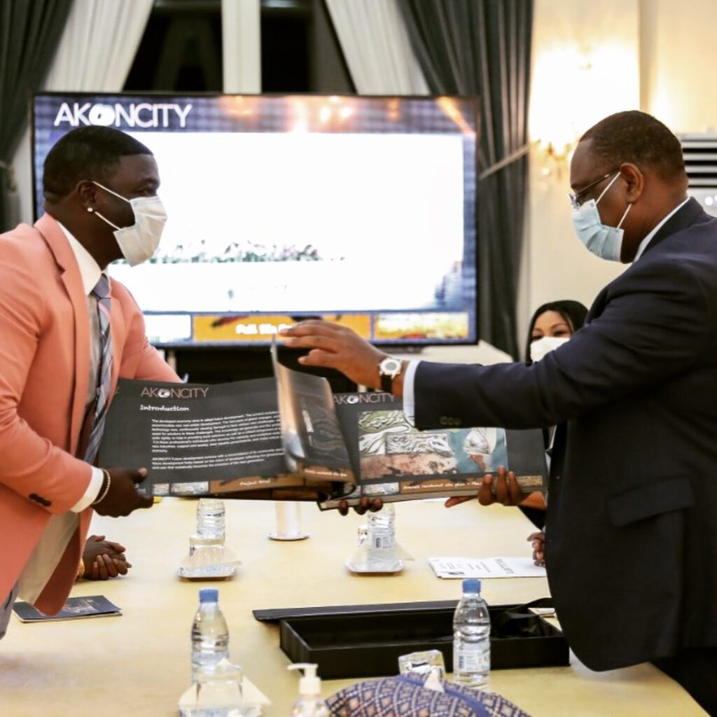 Authorities in Senegal have warmly embraced the vision of Akon