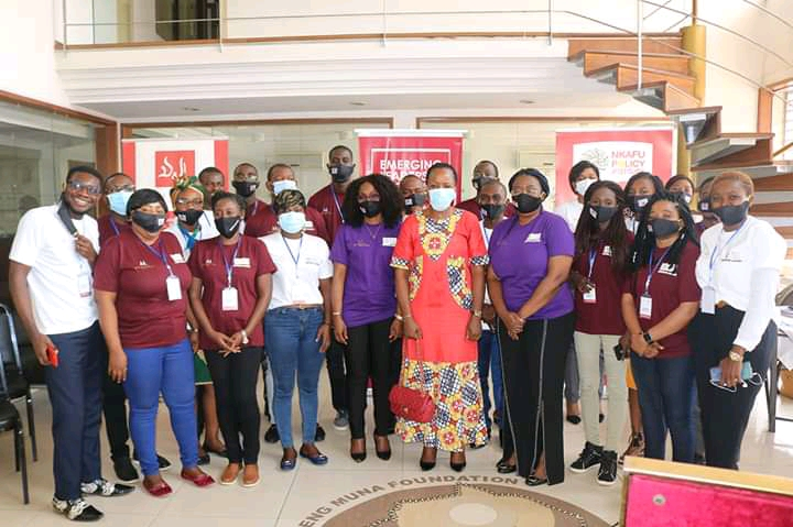 2020 Emerging Leaders pose with Foretia Foundation team & Ms Anne Pelagie Yotchou, Guest speaker