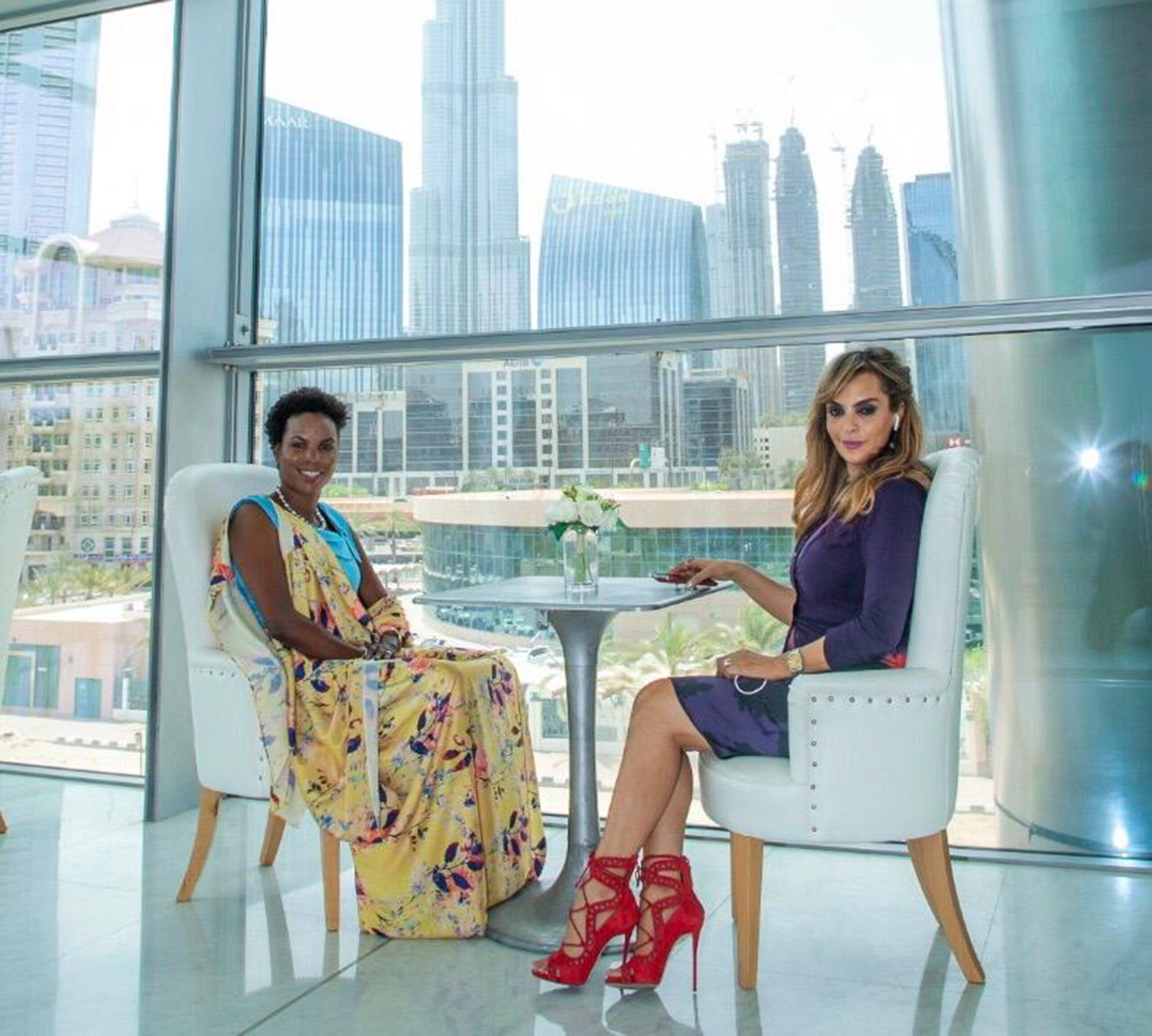 Dr. Rasha Kelej, CEO of Merck Foundation & President, Merck More Than a Mother during her meeting with H.E. Madam ANGELINE NDAYISHIMIYE, The First Lady of Burundi and Ambassador of Merck More Than a Mother