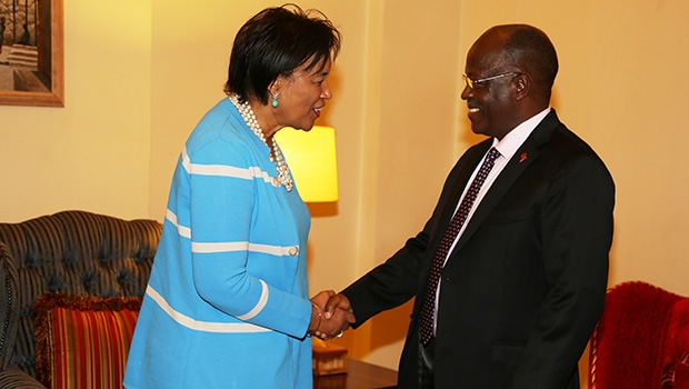 Commonwealth Secretary General Patricia Scotland with President Magufuli