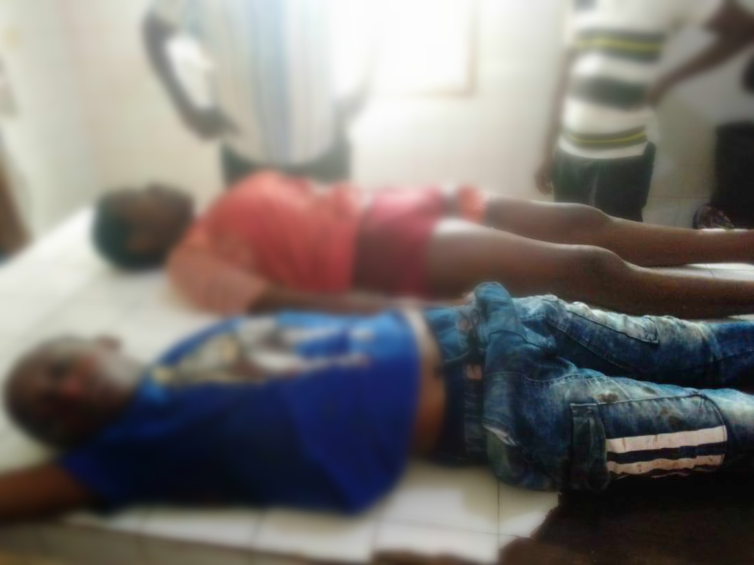 Some of the lifeless bodies of the school children killed in Kumba