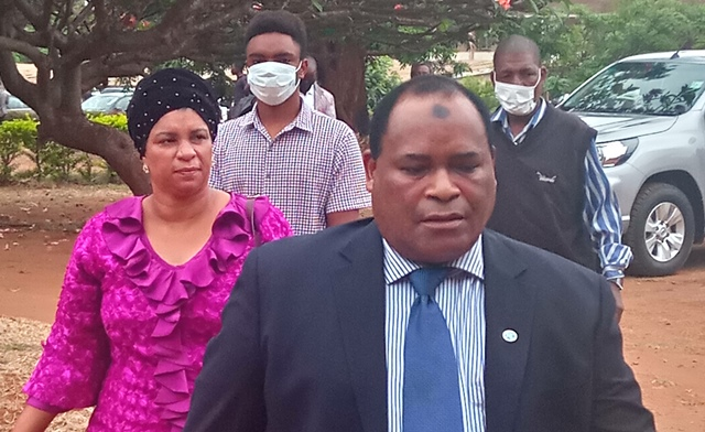 Former Minister Mussa with his family
