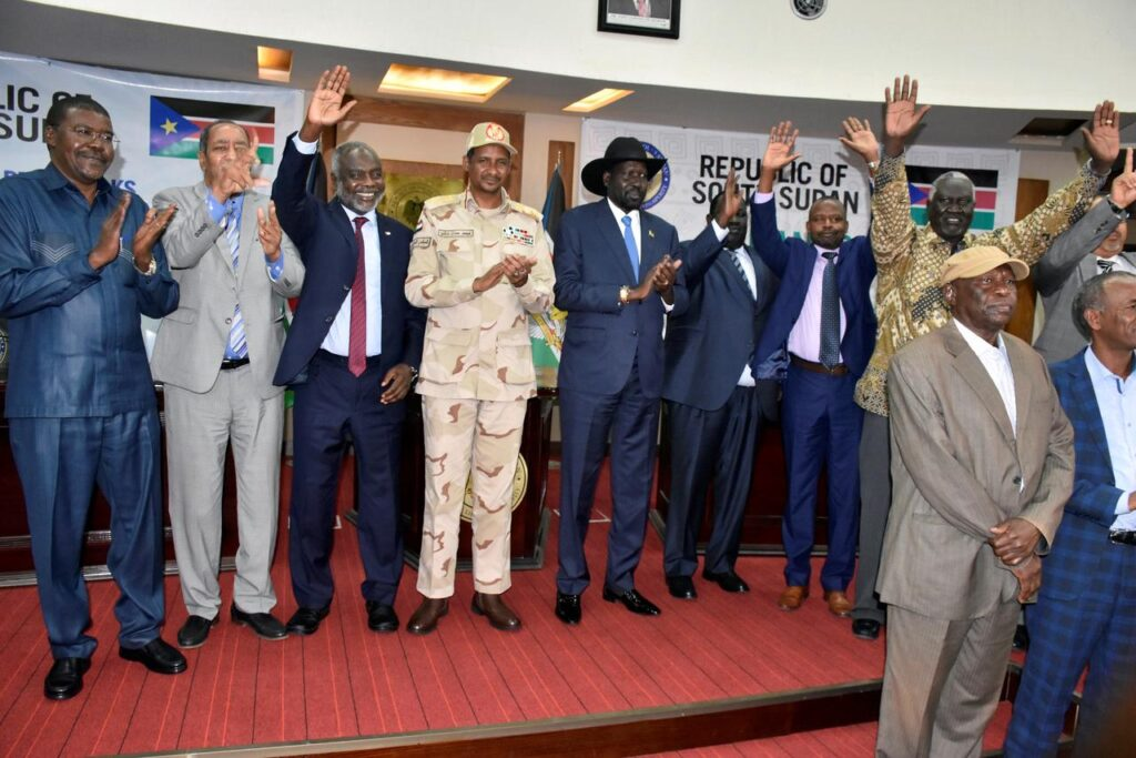 A festive mood in Juba at the signing of the historic deal. Photo Reuters