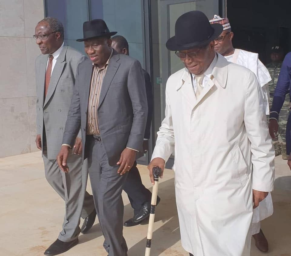Africa must intensify building synergistic national and regional networks of democracy advocates and champions to consolidate best practices,says Dr Fomunyoh pictured here with former Nigerian President Goodluck Jonathan and former President Nicephore Soglo of Benin.