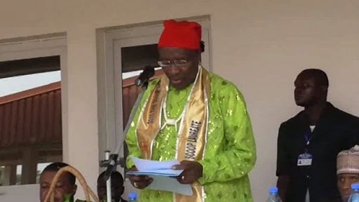 File picture of Dr Fomunyoh speaking in Kumba in 2016.If this tragedy does not shock your conscience, nothing will. The killings and atrocities must end, he says.