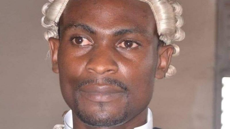 Barrister Tamfu Richard, one of the lawyers arrested by Police in Douala