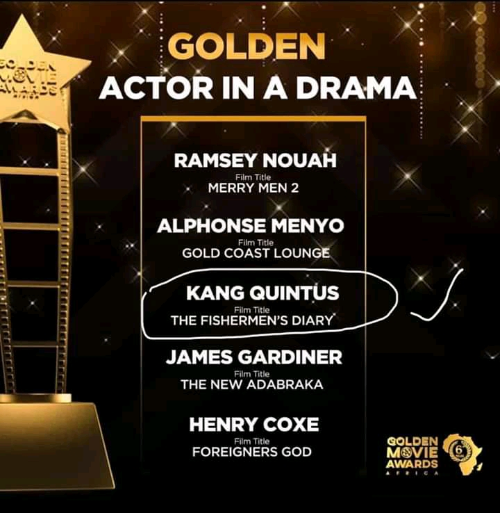 Kang Quintus nominated for Best Actor in a Drama