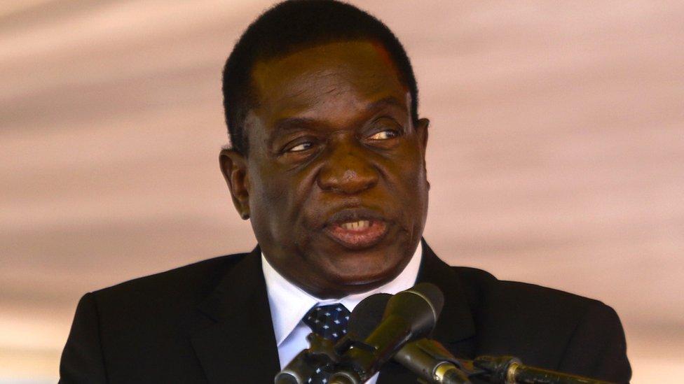Zimbabwean President Emmerson Mnangagwa – Photo Credit: BBC.com
