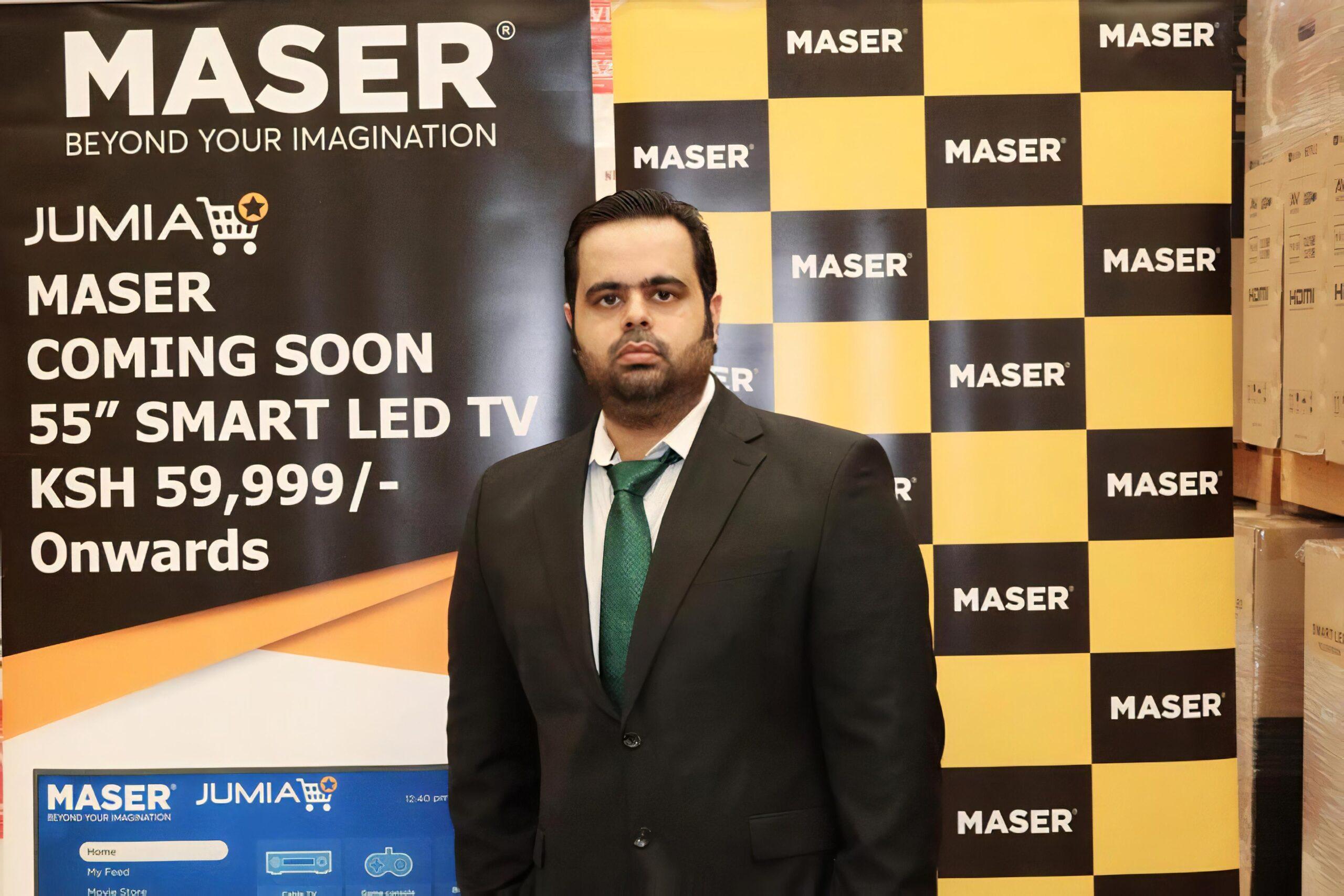 Prateek Suri, founder and CEO of UAE-based TV and electronics brand Maser