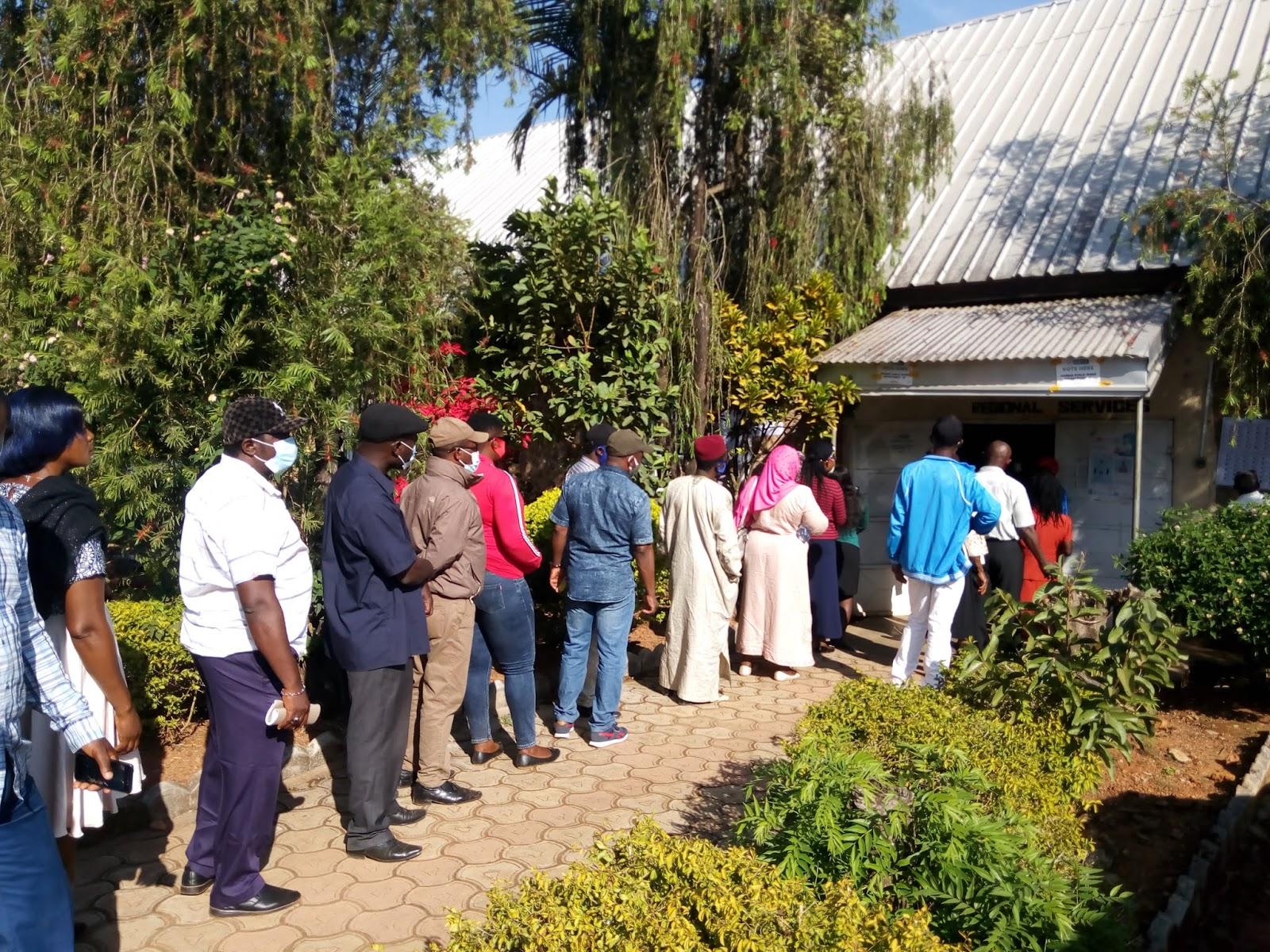 Councillors voting