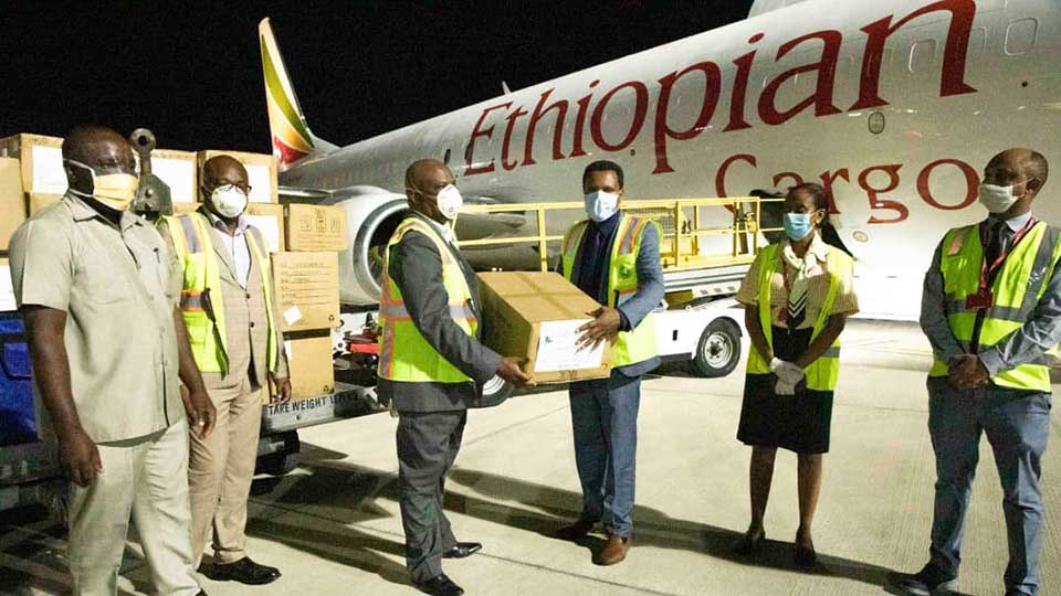 A donation from Chinese billionaire Jack Ma of masks, COVID19 test kits and other materials arrive in Tanzania. Photo Courtesy