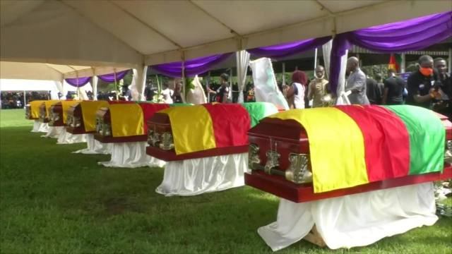 Funeral of school children killed by armed men in the town of Kumba, little progress has been made towards a lasting solution to the crisis