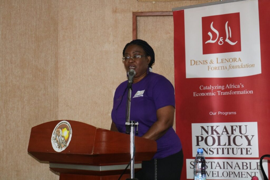 Fri Asanga, D&L Foretia Foundation's new Interim CEO speaks at the Emerging Leaders Programme in Cameroon's Capital Yaounde