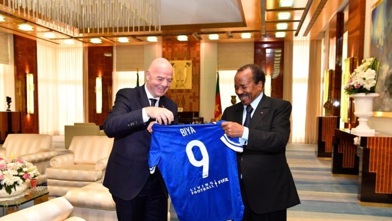 Infantino was received in audience by President Paul Biya of Cameroon