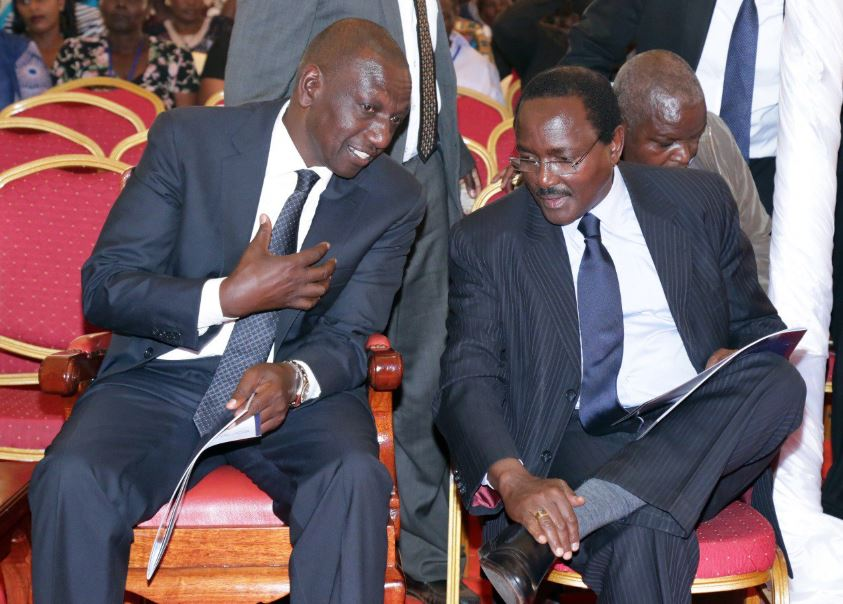 Deputy President (DP) William Ruto and former Vice President Kalonzo Musyoka.Photo courtesy