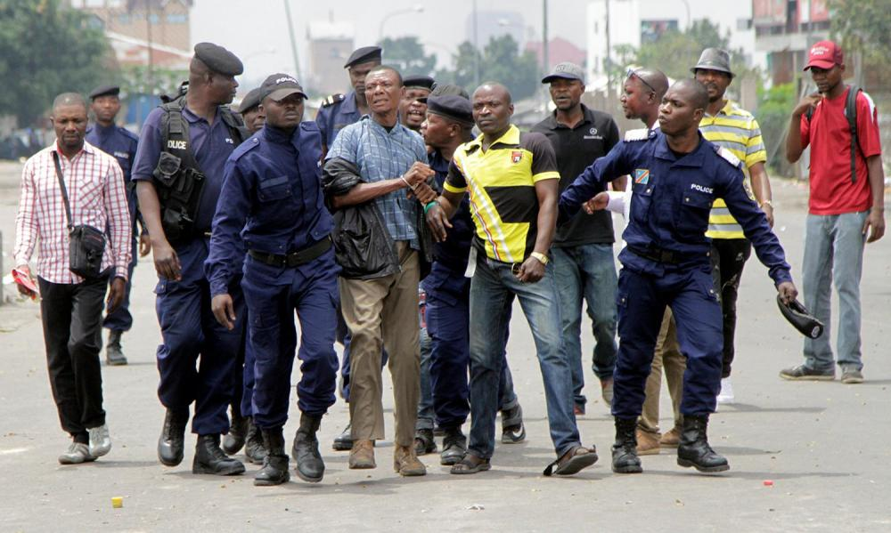 Police arrests protesters calling for Kabila to step down in 2016.Photo credit Reuters
