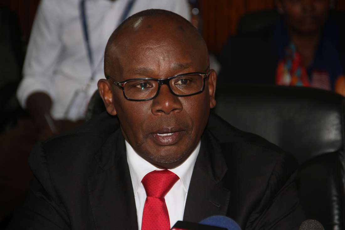 Githu Muigai during the handing over ceremony of the office to the incoming AG Justice Paul Kihara at sheria house on 3rd April 2018 ( PHOTO.MARTIN MUKANGU. NAIROBI)