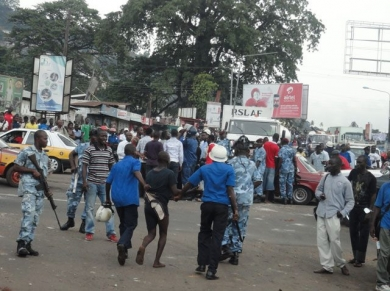 Photo depicting violence Scene in Freetown