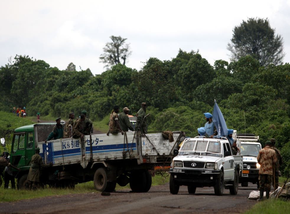 File photo of a United Nations convoy north of the provincial capital of Goma (Getty Images