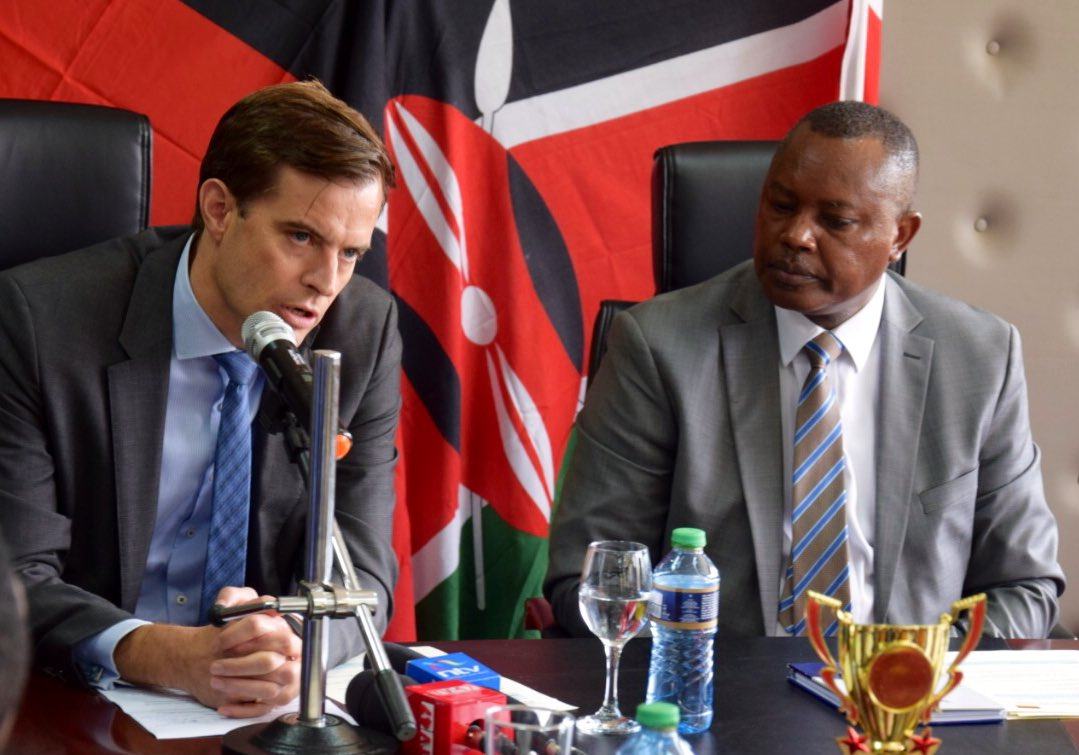DCI boss George Kinoti with German Embassy Official.Photo courtesy