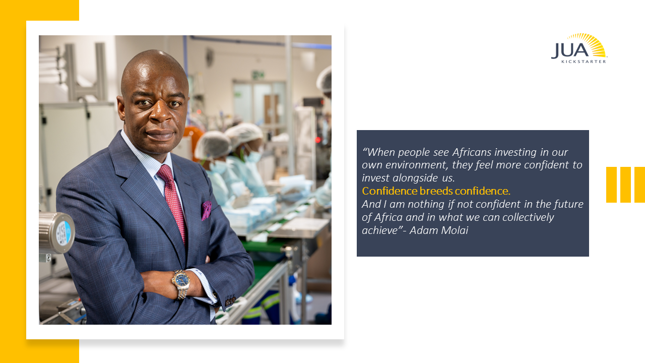 We targeted enterprises that are scalable across the Continent and actually address the challenges that are hobbling Africa's development, says African industrialist Adam Molai