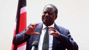 Kenya's former Prime Minister Raila Odinga has tested negative for the coronavirus.Photo credit DENNIS ONSONGO.